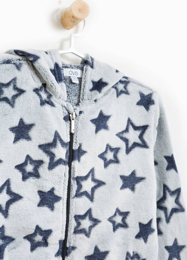 Star patterned faux fur sweatshirt | OVS