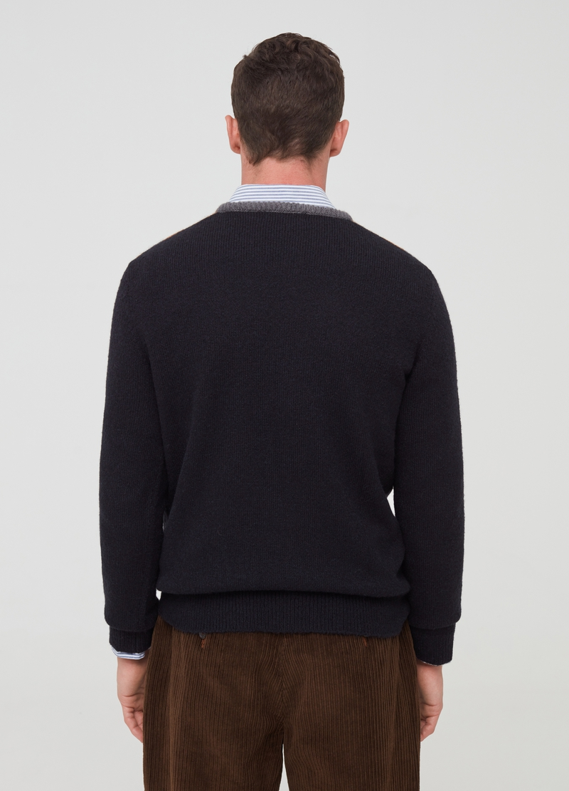 PIOMBO pullover with diamond motif image number null