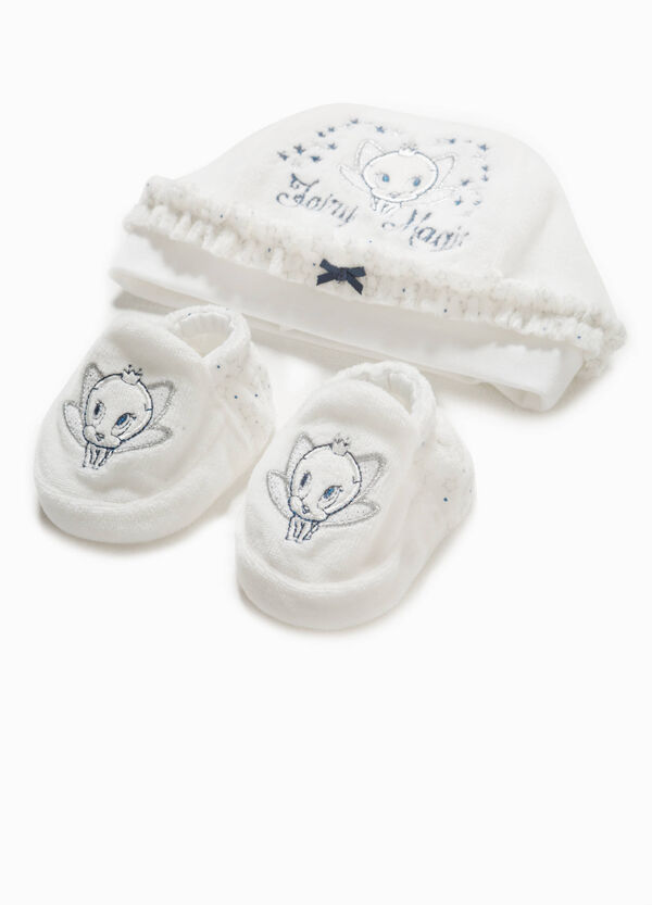 Tweety Pie cotton hat and shoes set | OVS