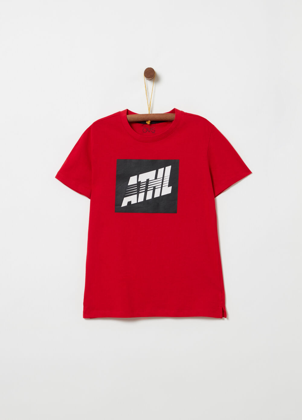 T-shirt with rubber print
