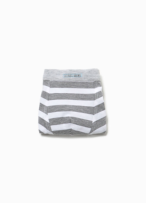 Striped boxers in organic cotton