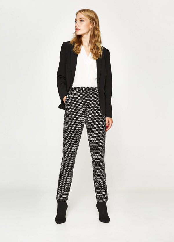 Pantaloni stretch stampa all-over | OVS