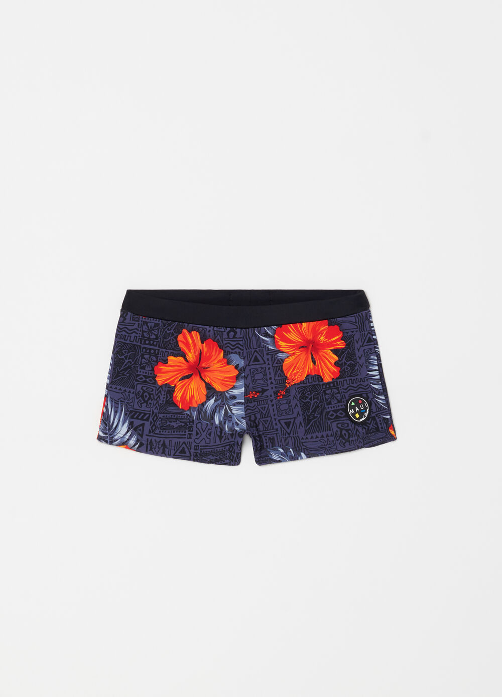 Stretch swim boxer shorts with Maui and Sons patch