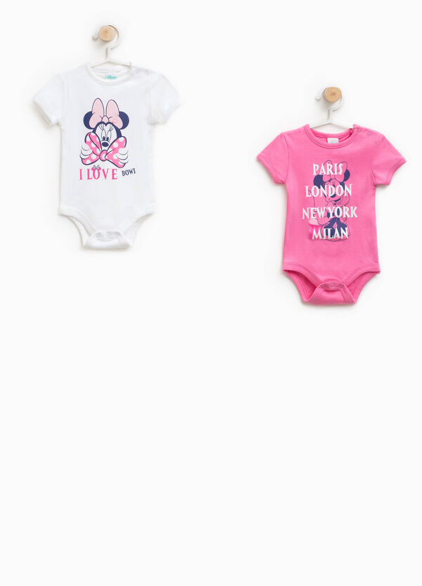 Two-pack Minnie bodysuits in 100% cotton | OVS