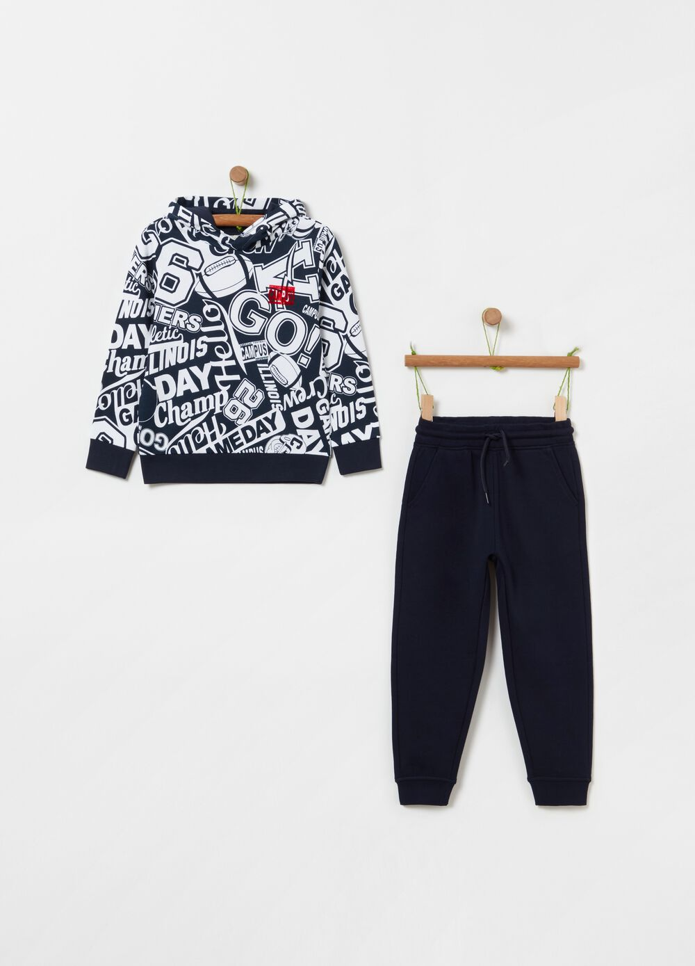 French terry jogging set with pattern