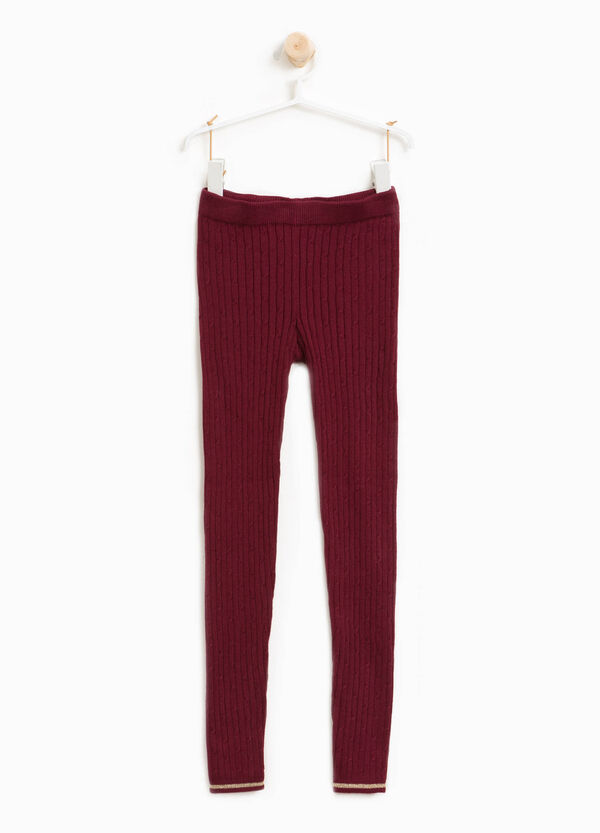 Leggings misto cotone stretch tricot