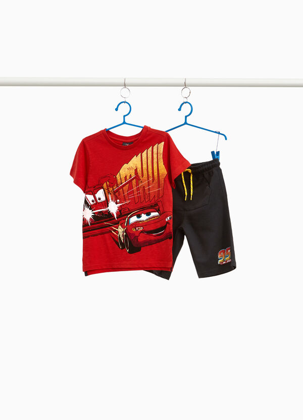 Cars T-shirt and Bermuda shorts set