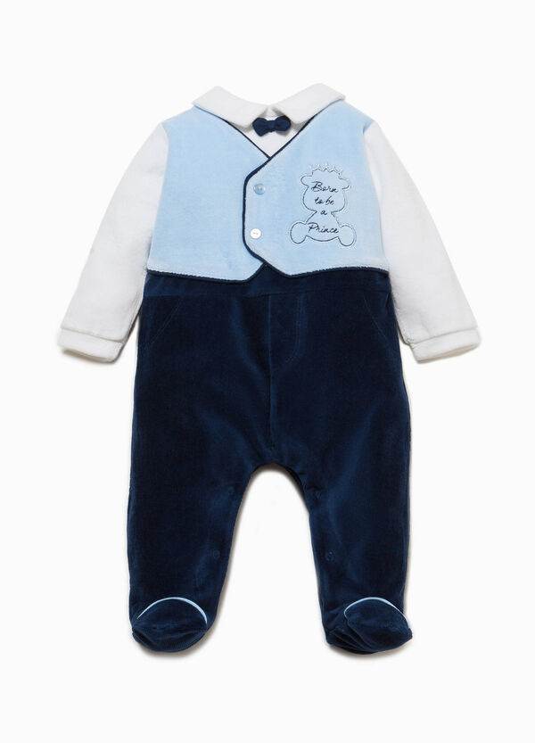 Onesie with feet, gilet and embroidery | OVS