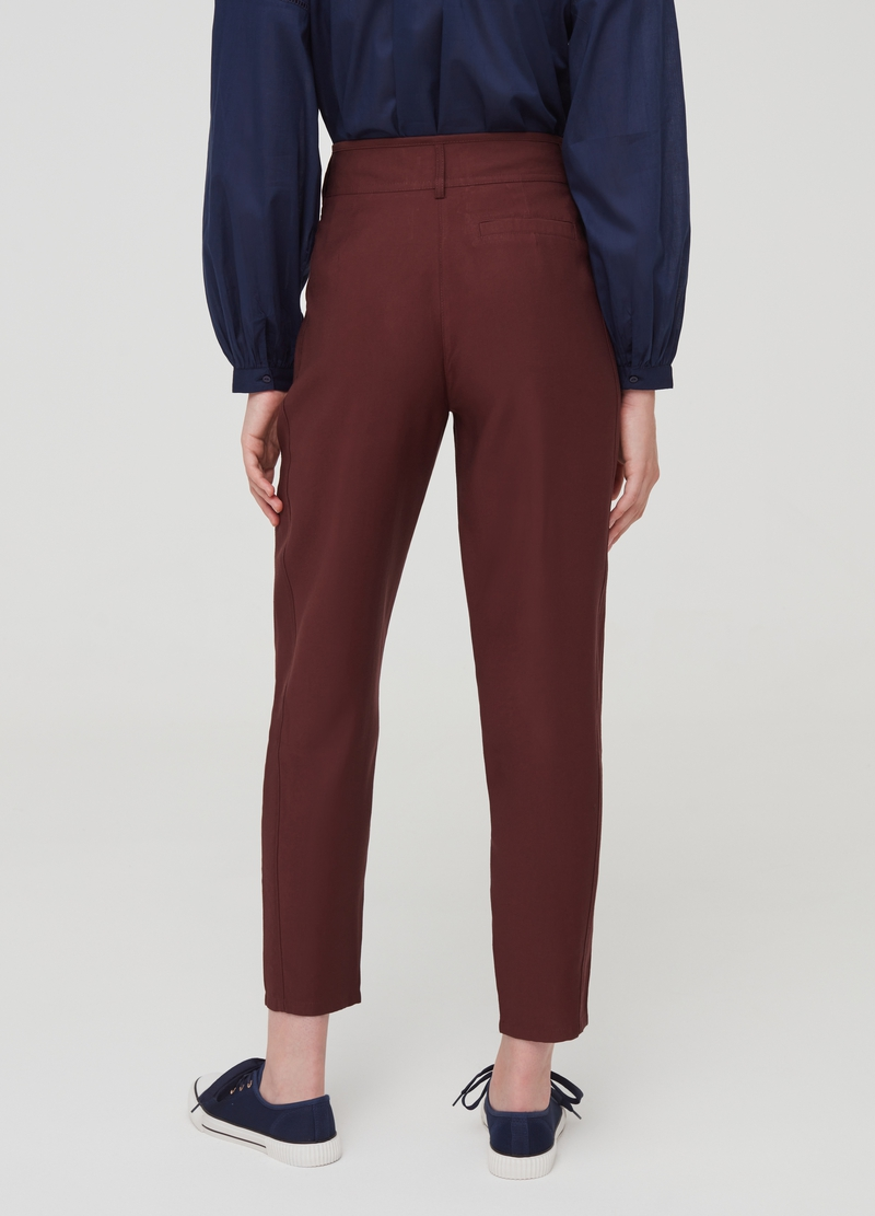 High-waisted trousers with pockets image number null