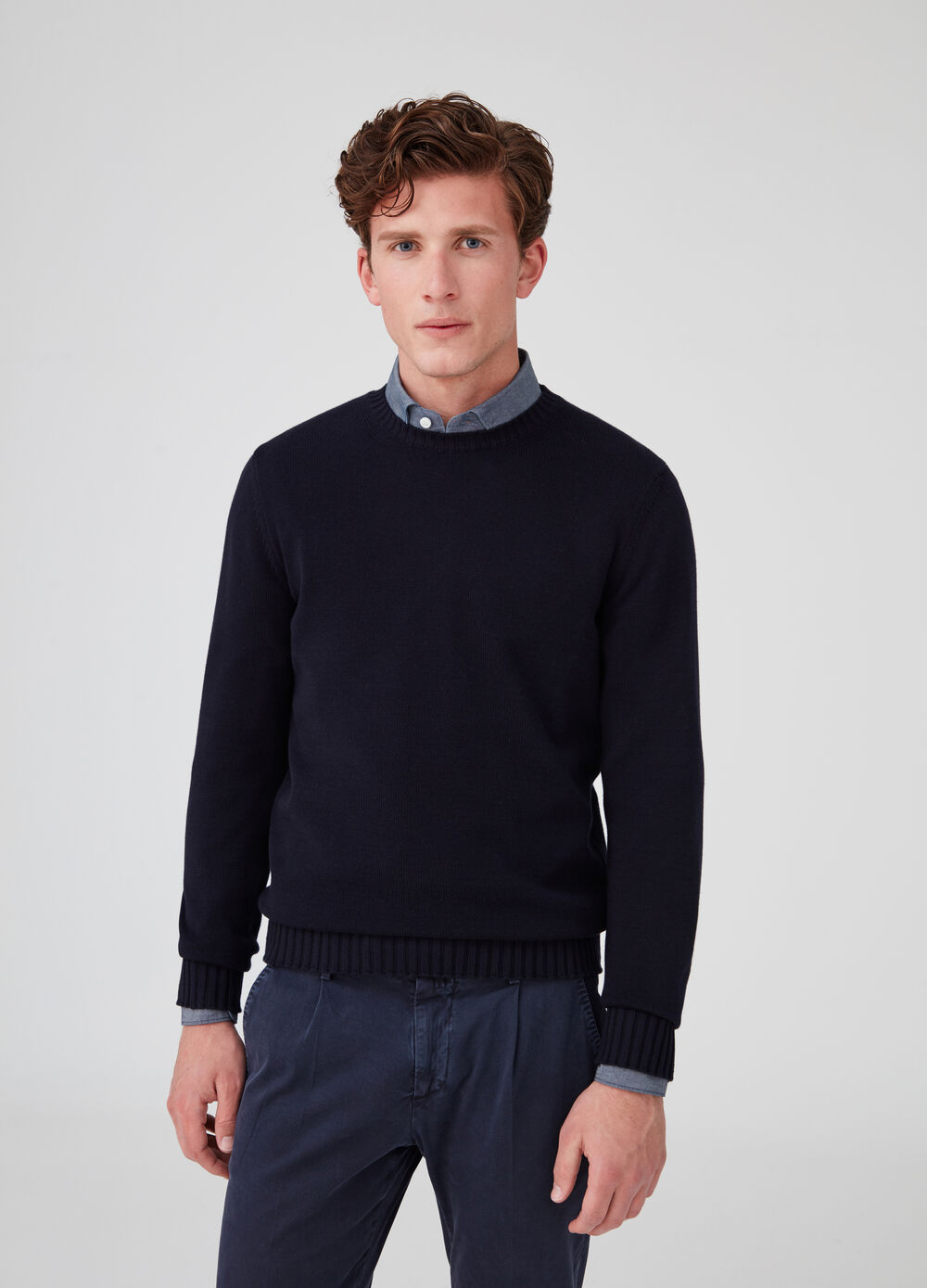 Rumford knitted 100% cotton pullover