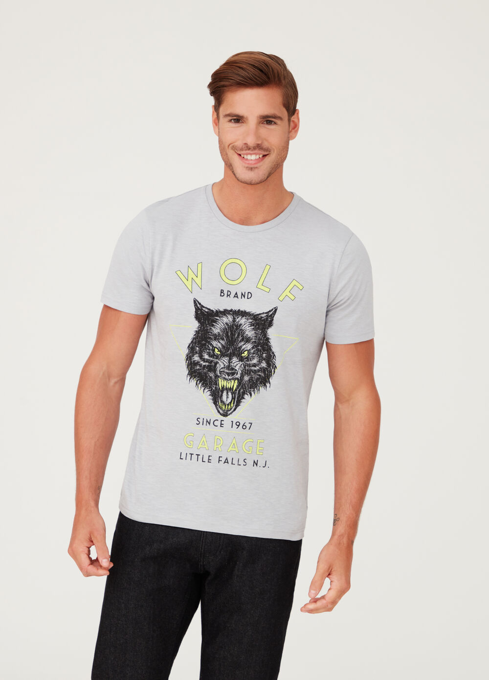 T-shirt in jersey puro cotone con stampa