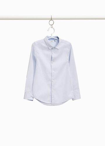 100% cotton shirt with micro stripes