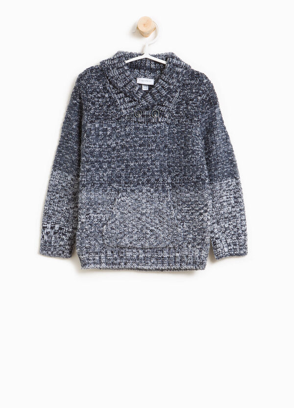 Knitted pullover with cross-over neck | OVS