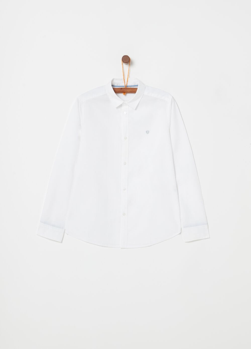 Regular-fit Oxford shirt with embroidery