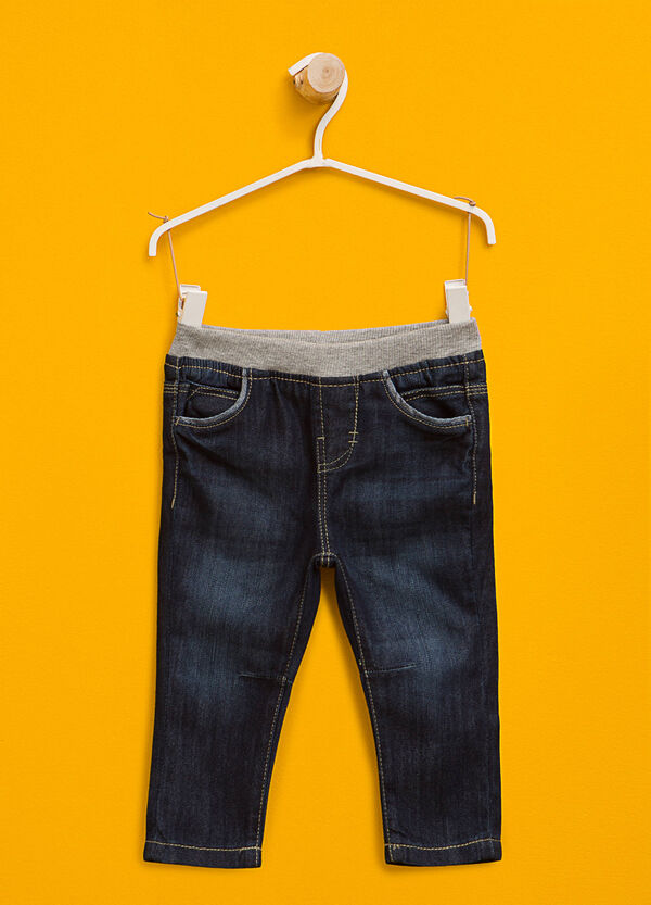 Washed-effect jeans with elasticated waist | OVS