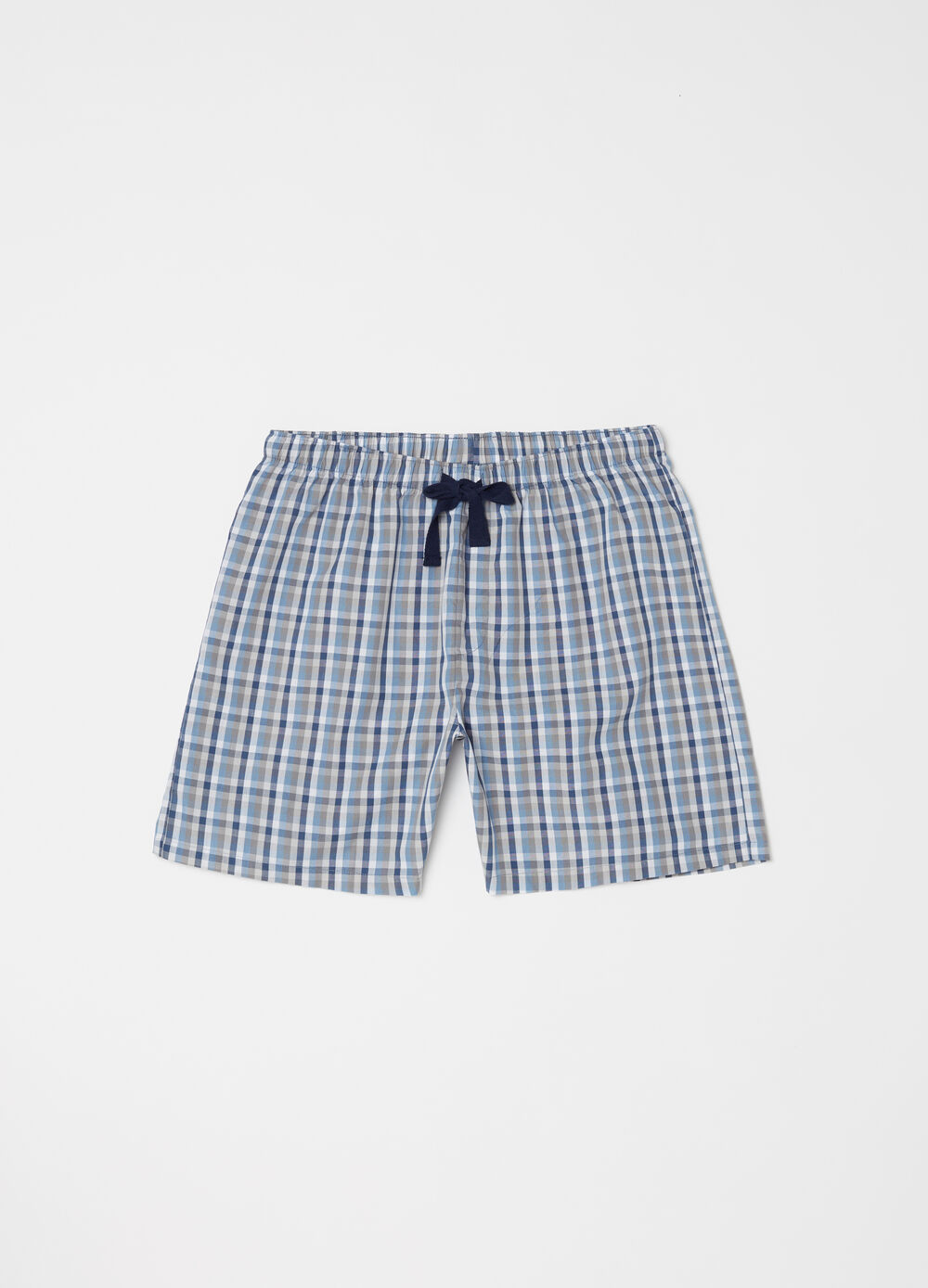 Patterned shorts with drawstring