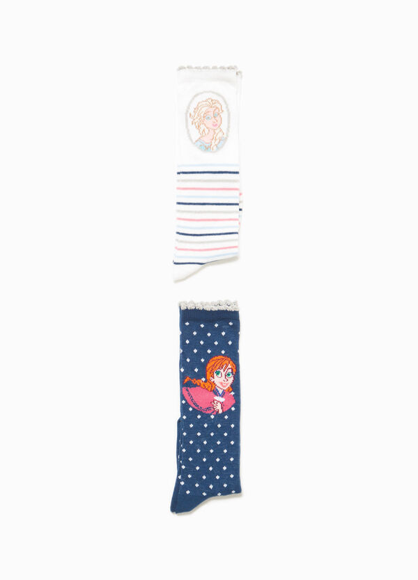 Two-pair pack long socks with stripes and polka dots | OVS