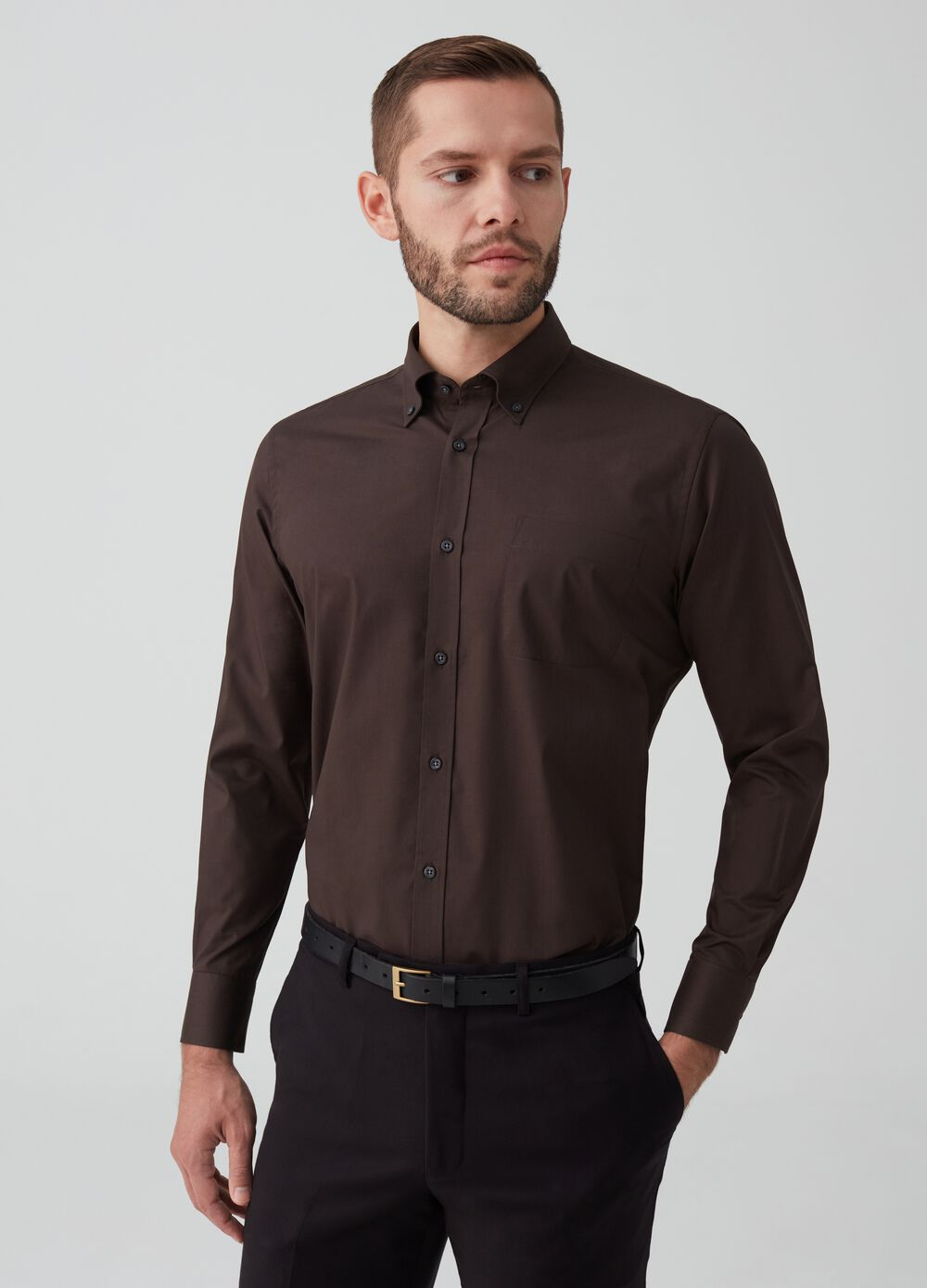 Regular-fit shirt with pocket
