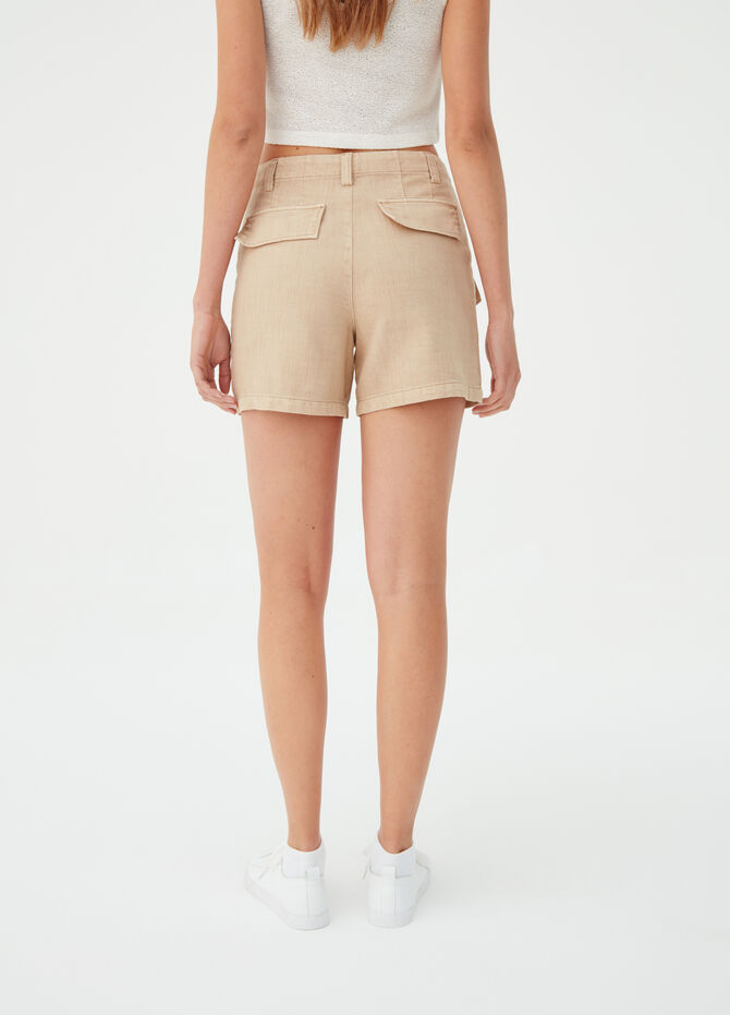 Earth Day solid colour shorts in lyocell blend