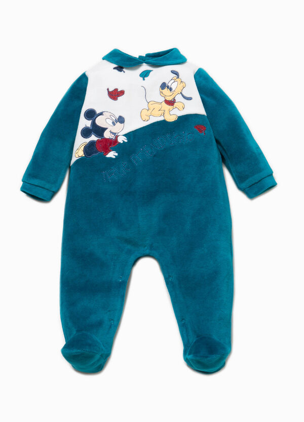 Baby Mickey Mouse onesie with feet