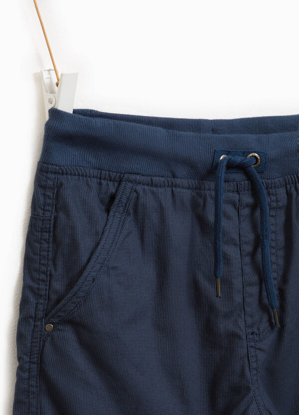 100% cotton joggers with stitching | OVS