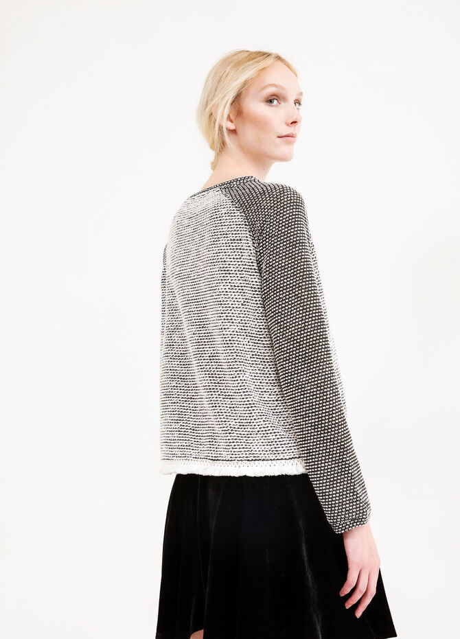 Sweatshirt with raglan sleeves with fringe