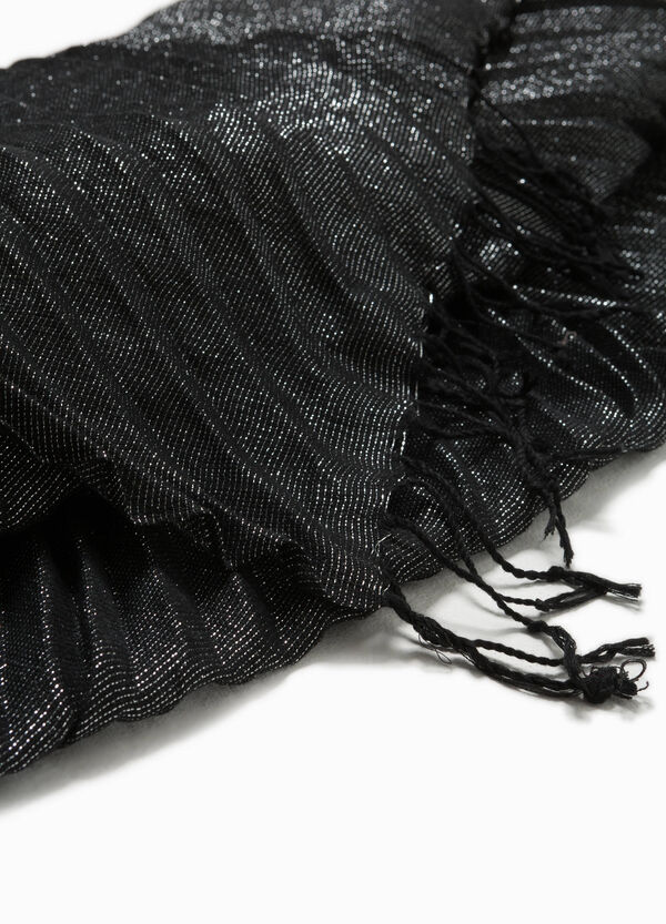 Scarf with lurex and fringing | OVS