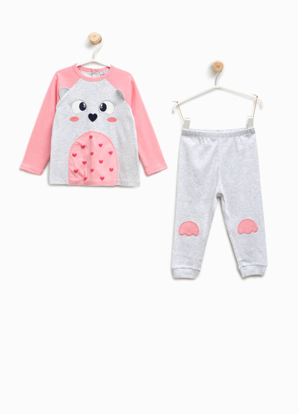 Organic cotton pyjamas with patch | OVS