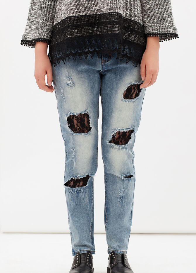 Curvyglam ripped jeans