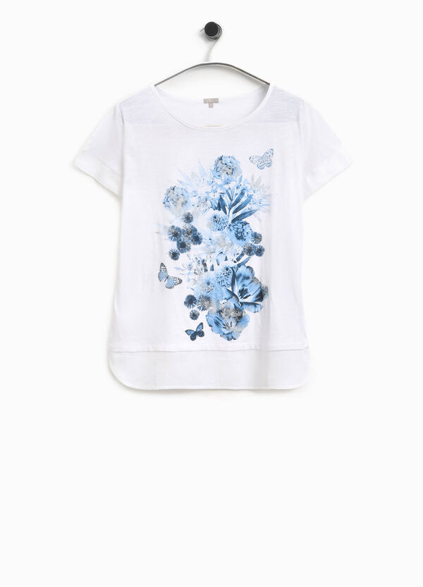 T-shirt con stampa floreale Smart Basic