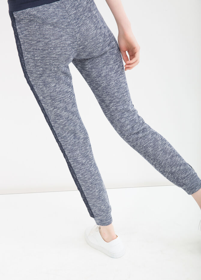 Mélange joggers with lace