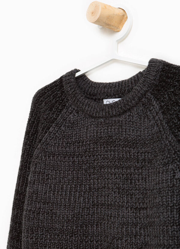 Knitted pullover with raglan sleeves | OVS