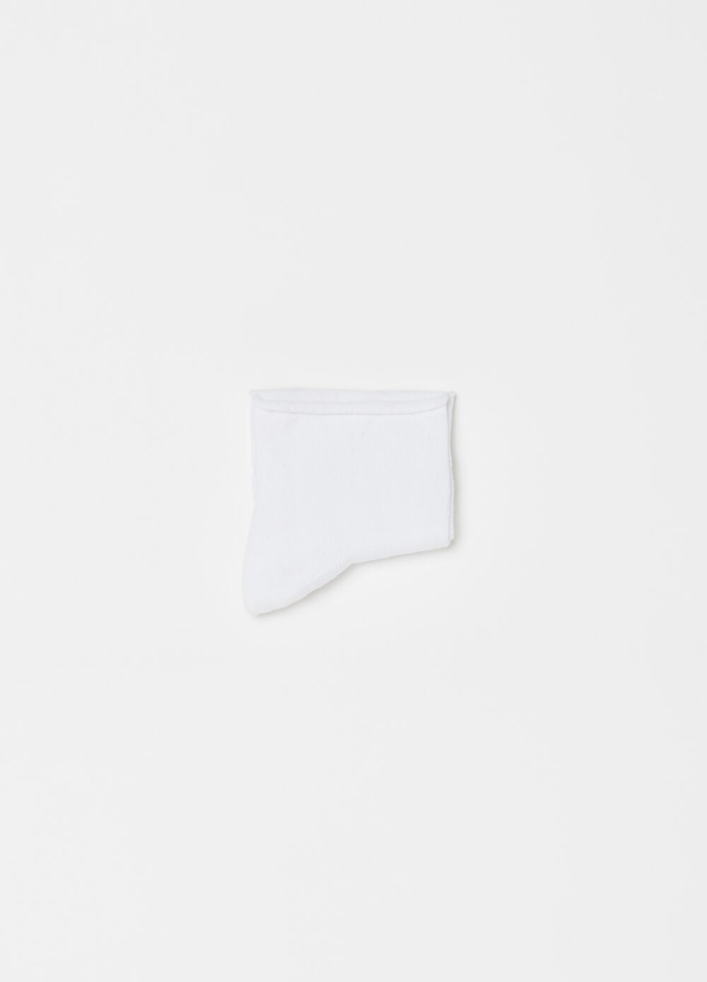 Short stretch socks with fold