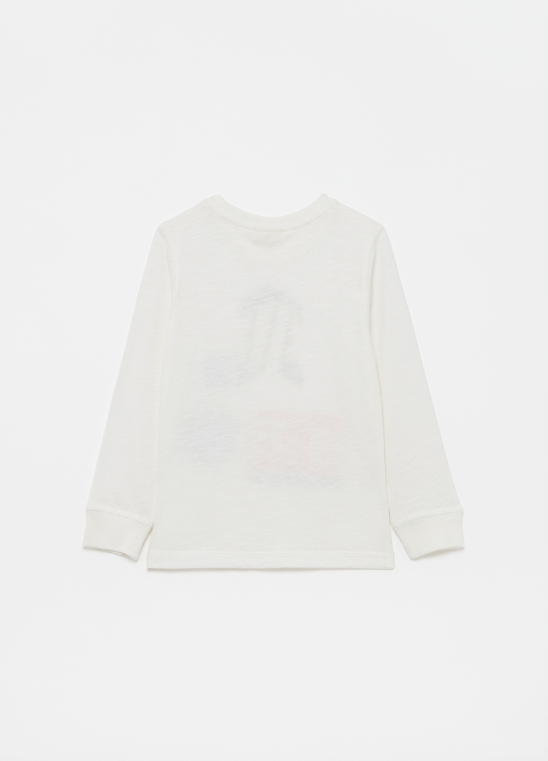 Long-sleeved 100% cotton T-shirt image number null
