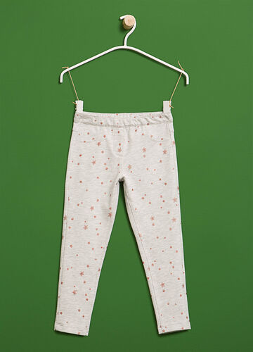 Cotton trousers with star pattern