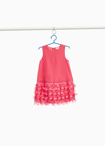 Sleeveless dress with tulle inserts