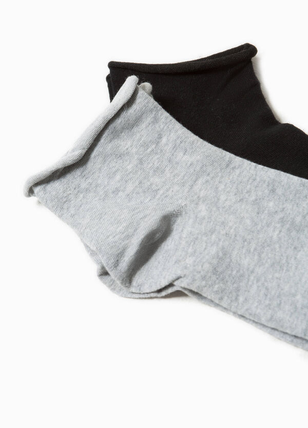 Two-pair pack socks with raw edging | OVS