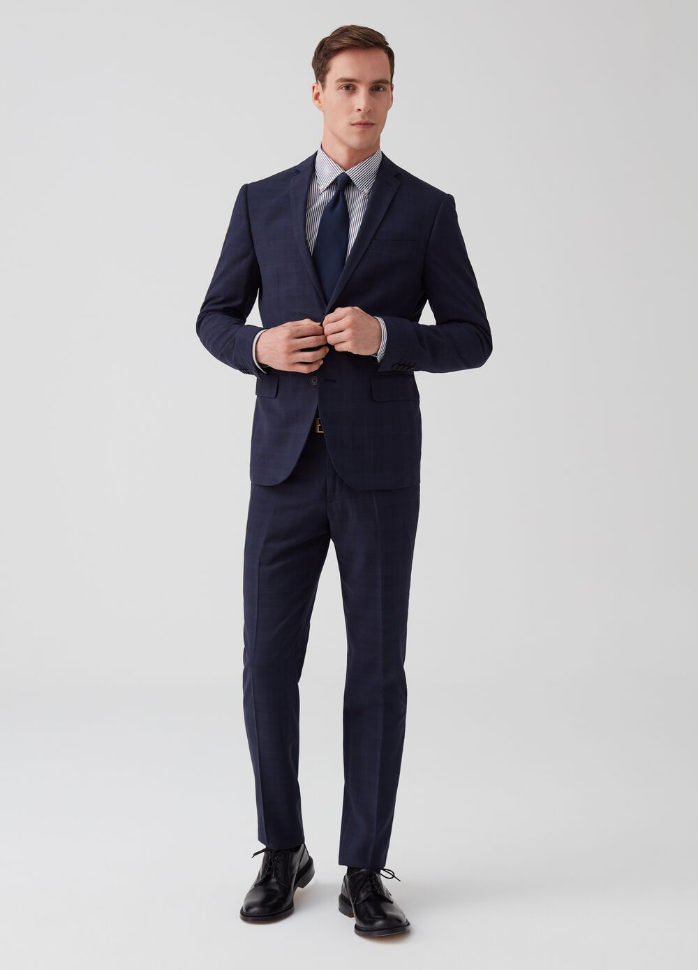 Two-button suit in Prince-of-Wales fabric