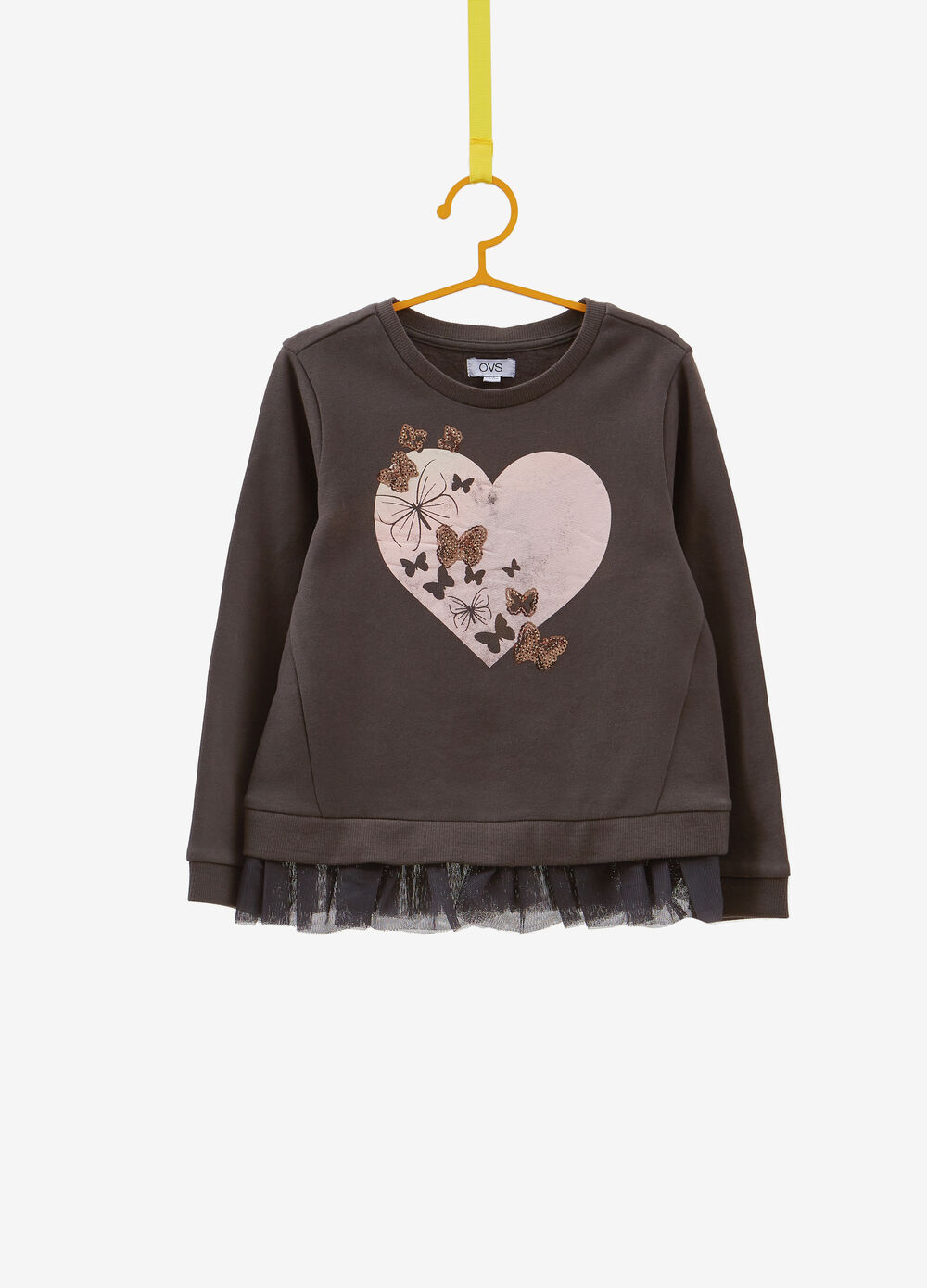 100% cotton sweatshirt with sequins and print