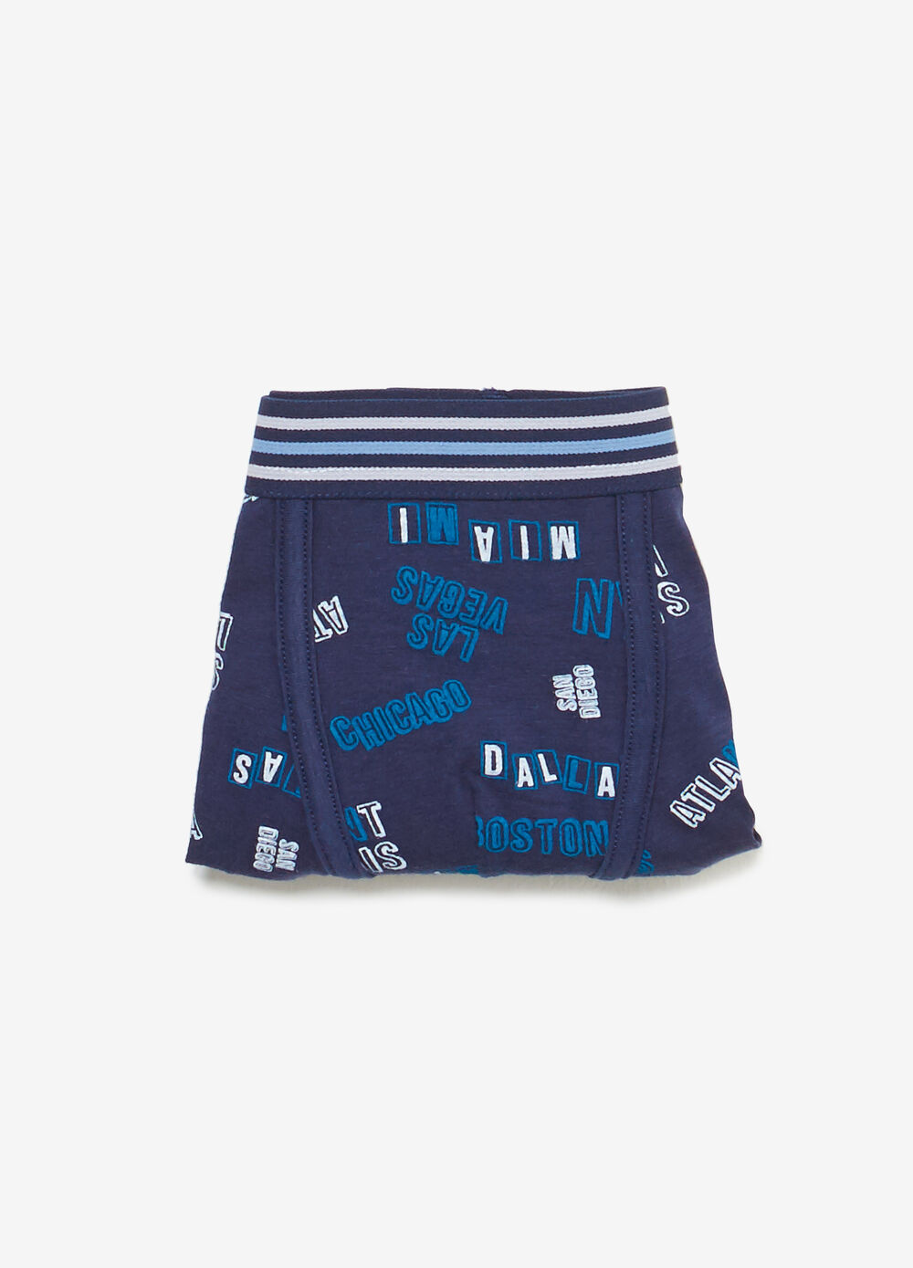 Boxer shorts in stretch cotton with lettering