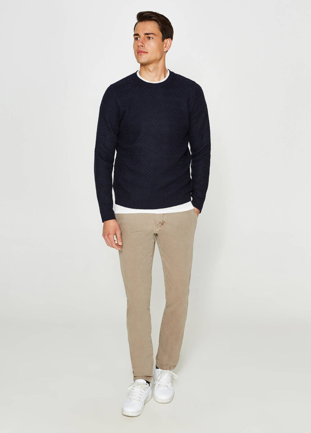 Pantalon chino regular fit stretch