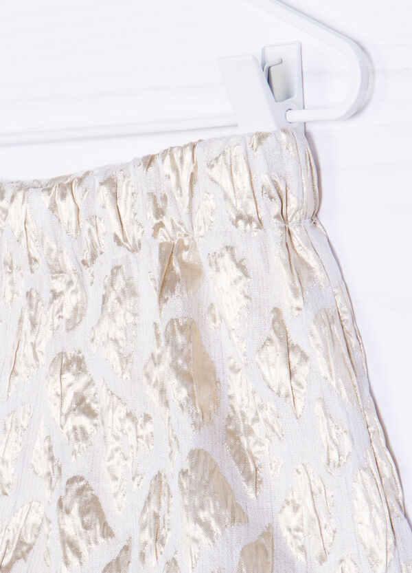 Stretch shorts with golden print   OVS