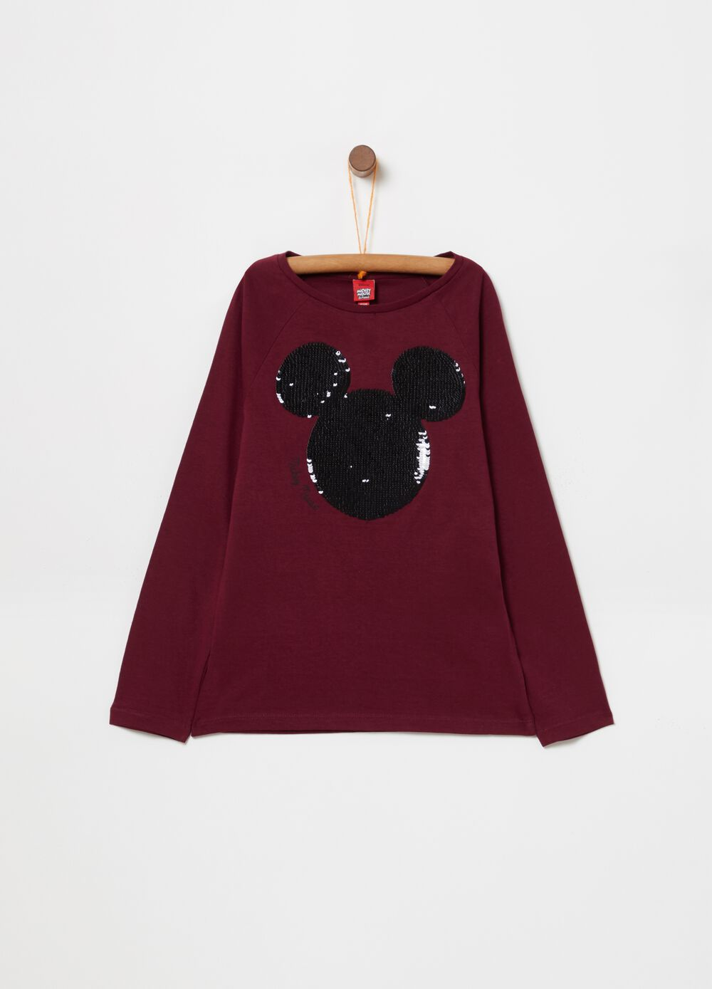 Cotton Disney Mickey Mouse T-shirt with sequins