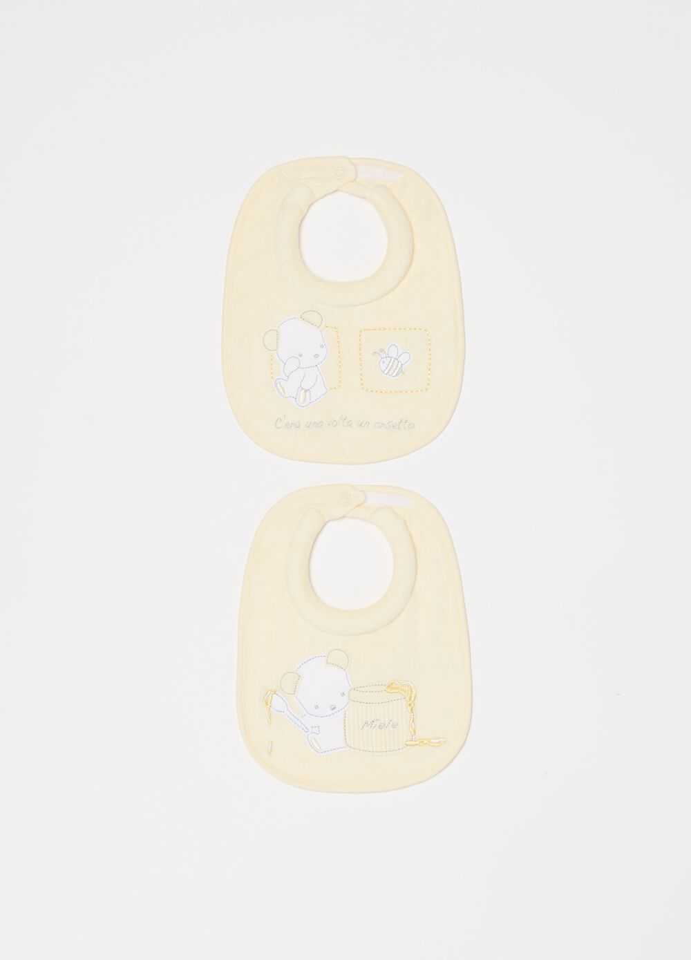 Two-pack bibs with button
