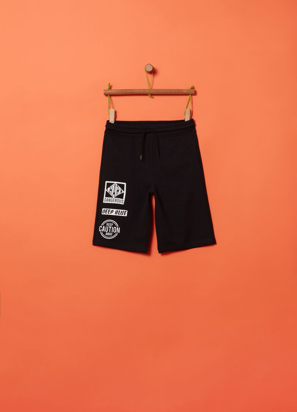 Bermuda shorts in 100% cotton with print