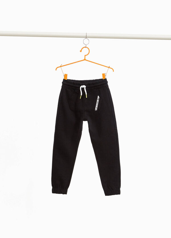 Joggers with pouch pocket