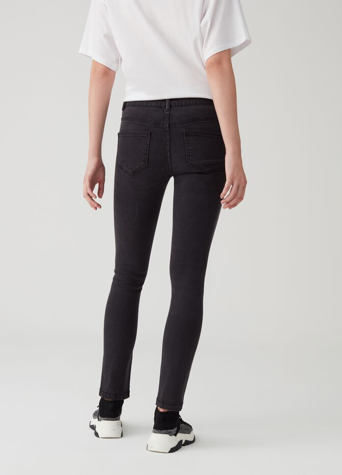 Slim fit stretch jeans with regular waist