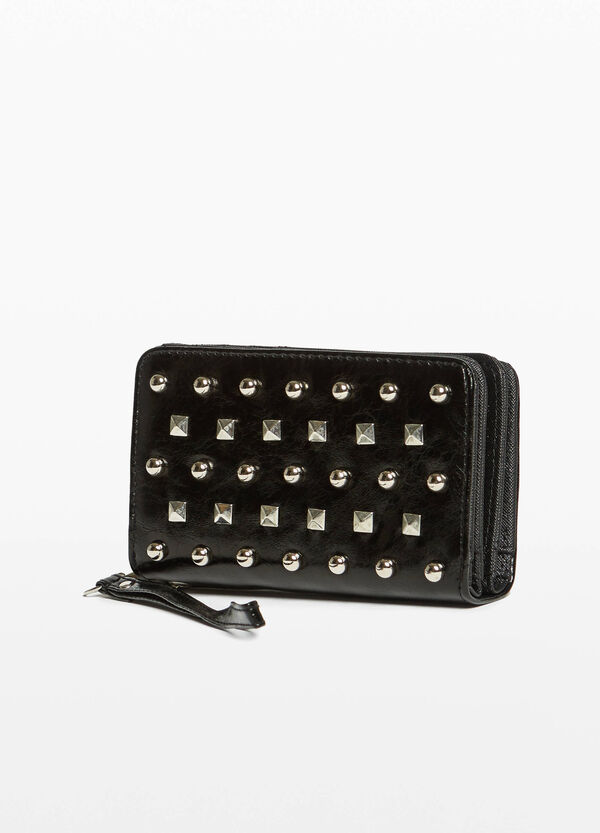 Purse with two compartments and studs