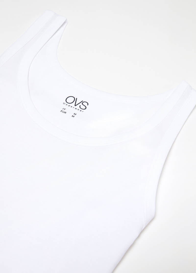 100% cotton racerback top with round neck image number null