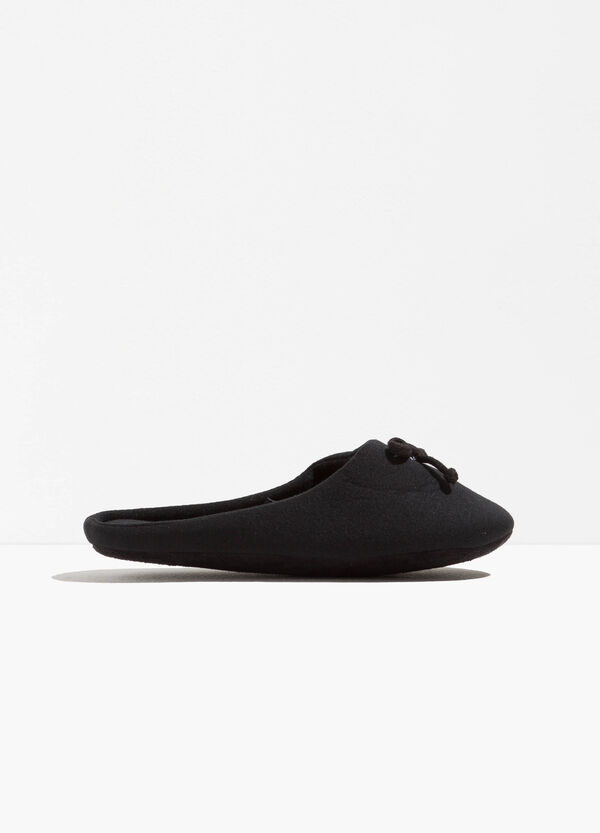 Canvas slippers with bow | OVS